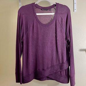 Athleta Serenity Criss Cross Purple Sweatshirt LP